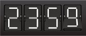 Digital countdown clock in military time