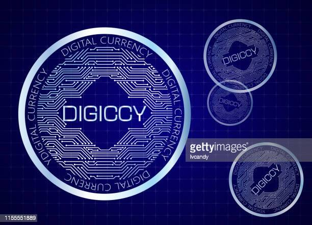 digital currency - currency symbol stock illustrations