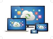 Digital Devices & Cloud Computing (Vector)