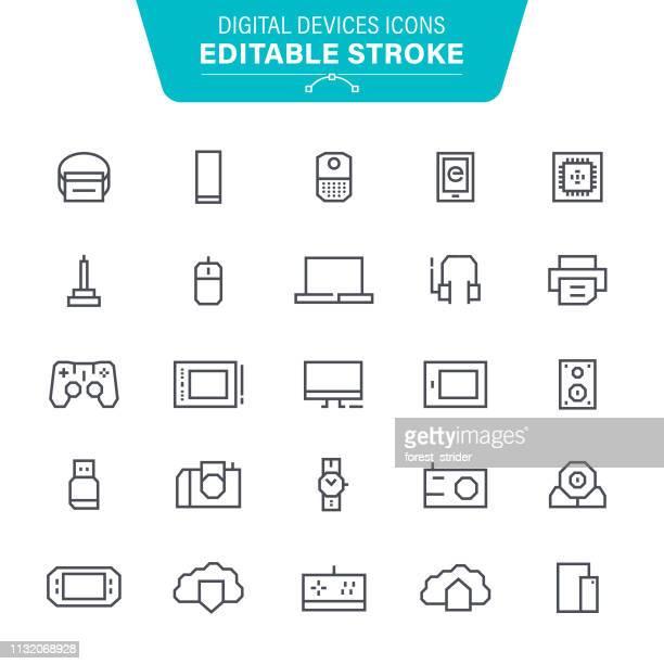 Digital Devices Editable Line Icons