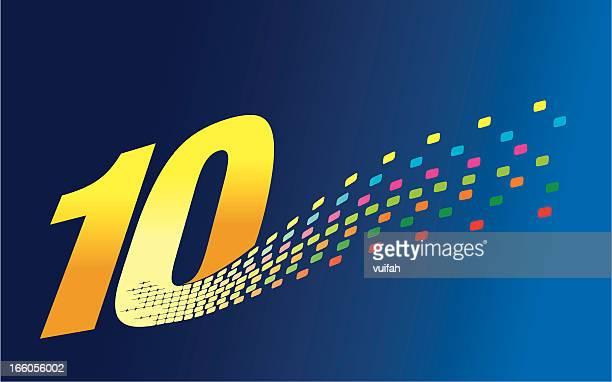 デジタル形成数字 10