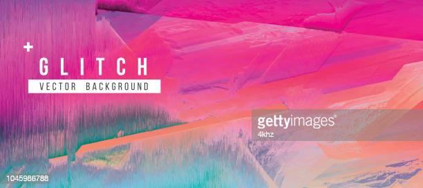 Digital Glitch Abstract Grunge Background