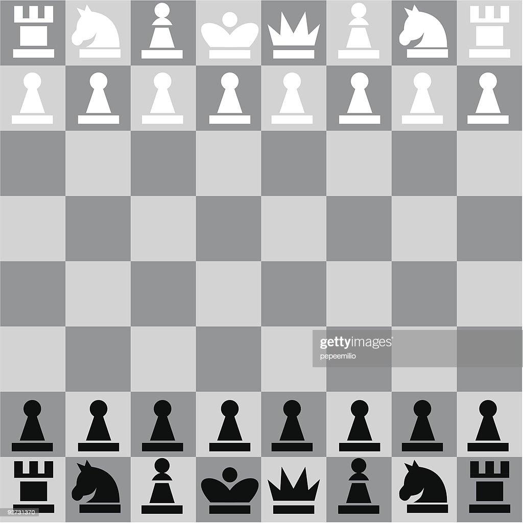 Digital illustration of a chessboard