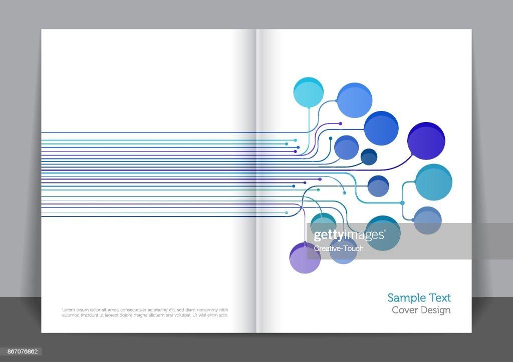 Digital Lines Cover design : stock illustration