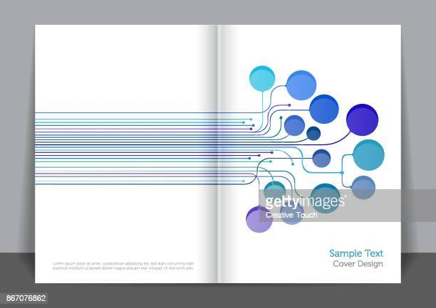 illustrazioni stock, clip art, cartoni animati e icone di tendenza di digital lines cover design - big data