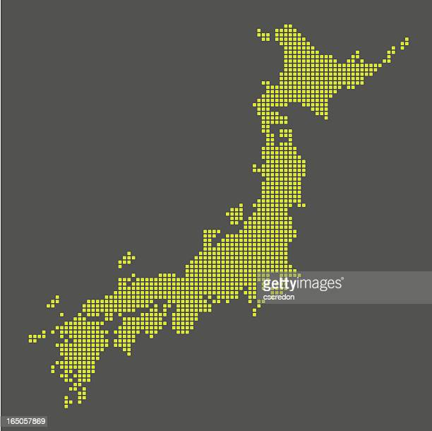digital map of japan - tokyo japan stock illustrations, clip art, cartoons, & icons