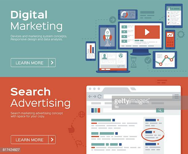 Digital Marketing and Search Advertising Banners