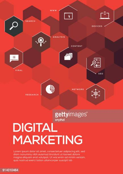 Digital Marketing. Brochure Template Layout, Cover Design