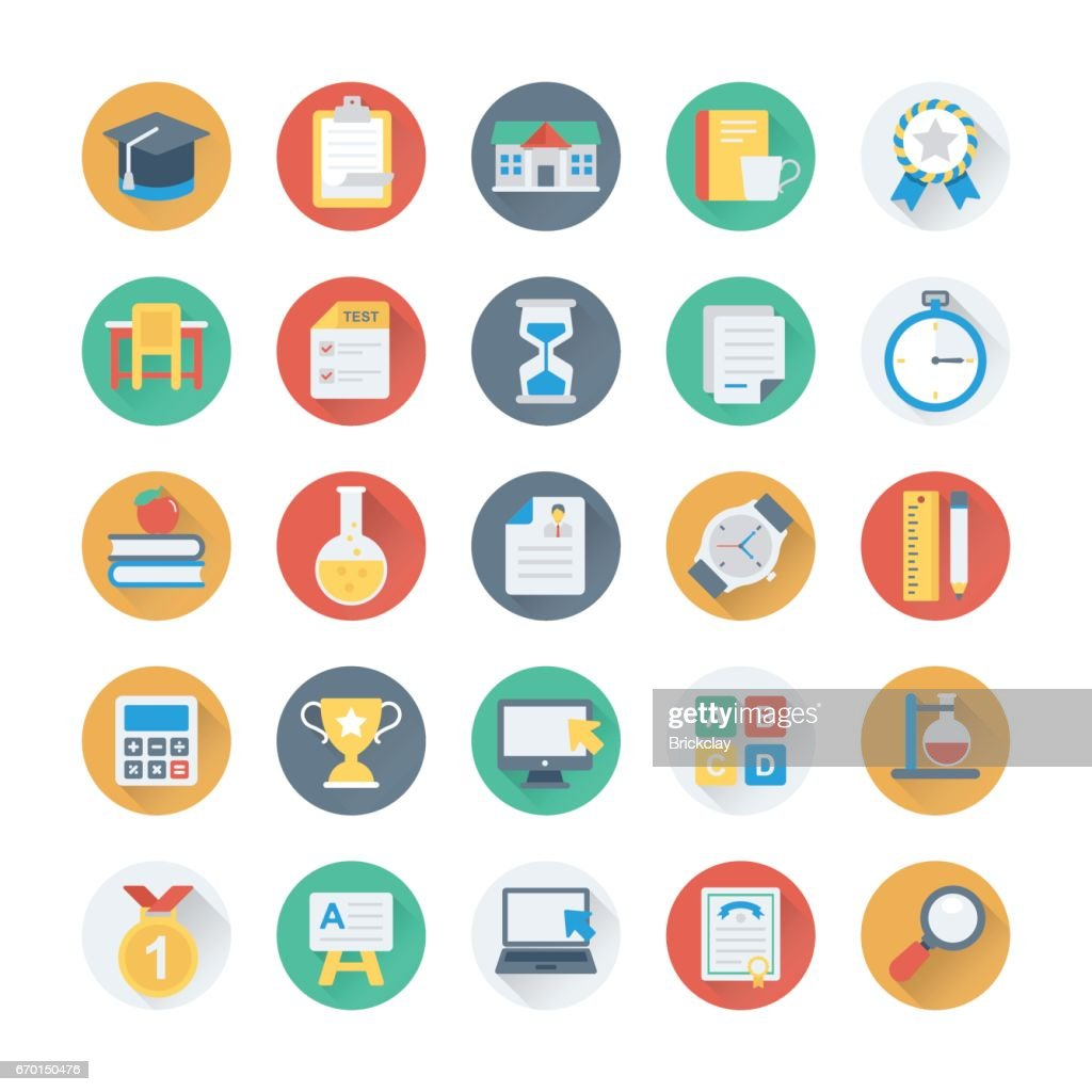 Digital Marketing Colored Vector Icons 1