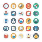 Digital Marketing Colored Vector Icons 11