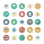 Digital Marketing Colored Vector Icons 12