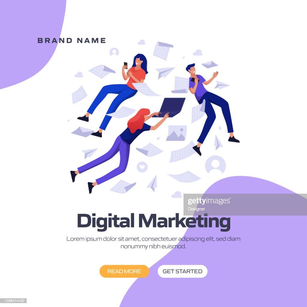 Digital Marketing Concept Vector Illustration For Website ...