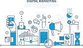 Digital marketing, finance, analysis, statistics, technology, media planning and promotion.