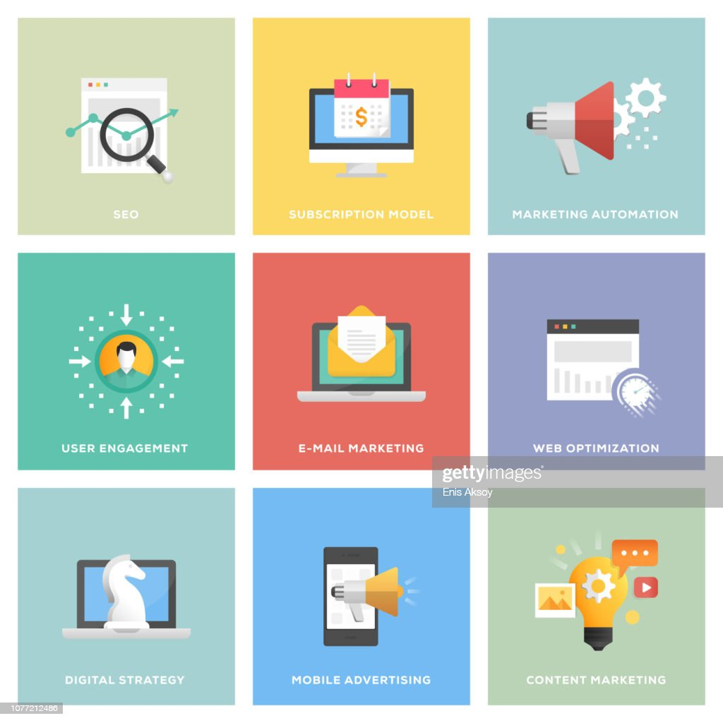 Digital Marketing Icon Set : stock illustration