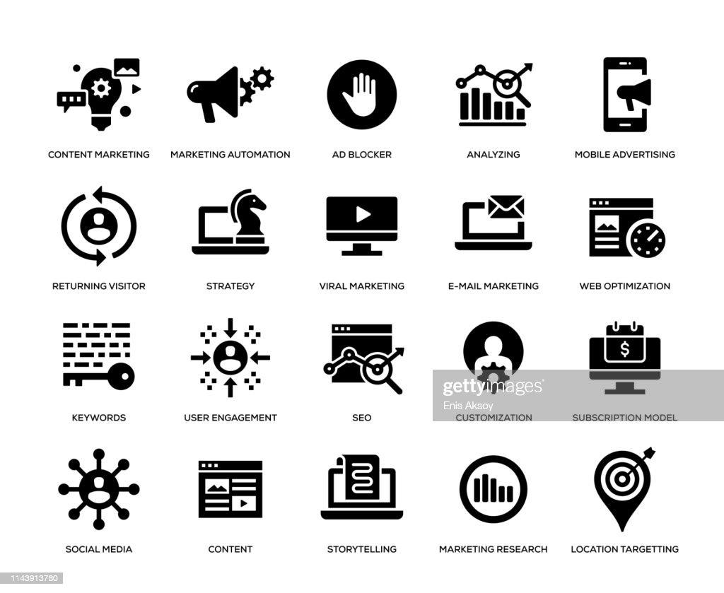 Digital Marketing Icon Set : Stock-Illustration