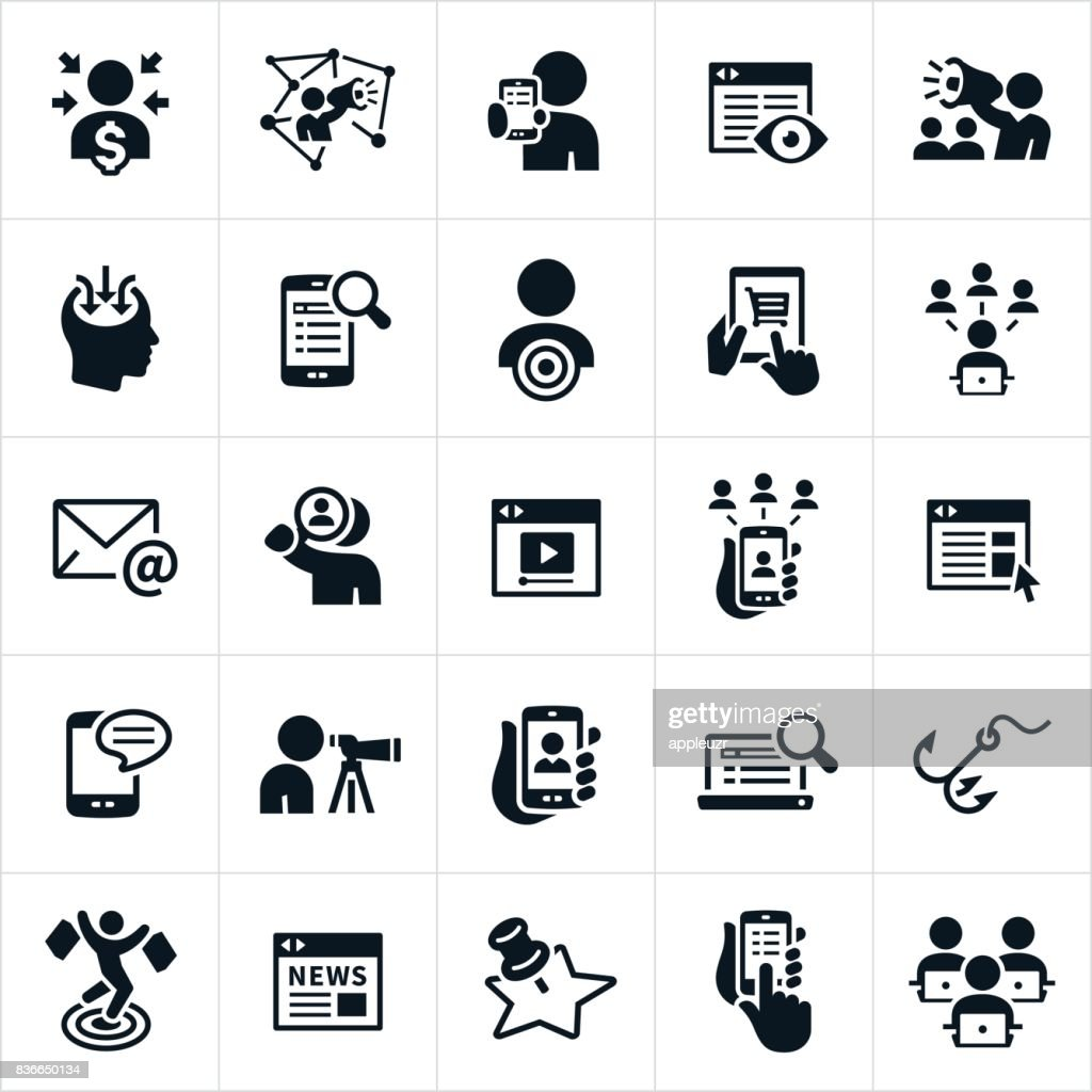 Digital Marketing Icons High-Res Vector Graphic - Getty Images