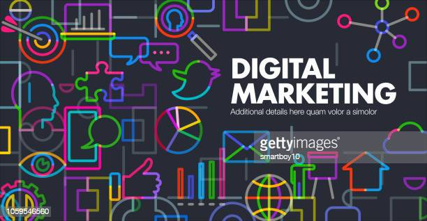 digital marketing - social media stock illustrations
