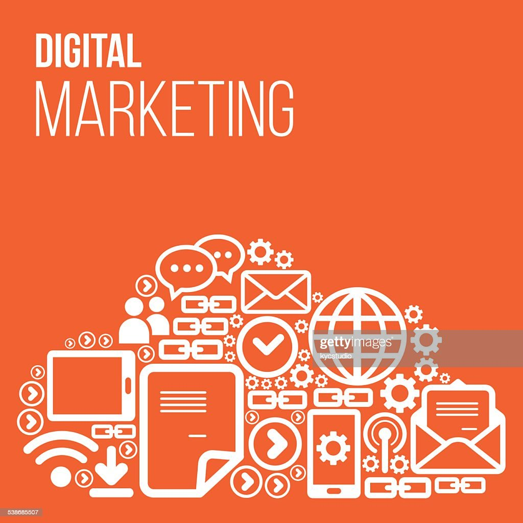Digital Marketing Vector With Icons High-Res Vector ...