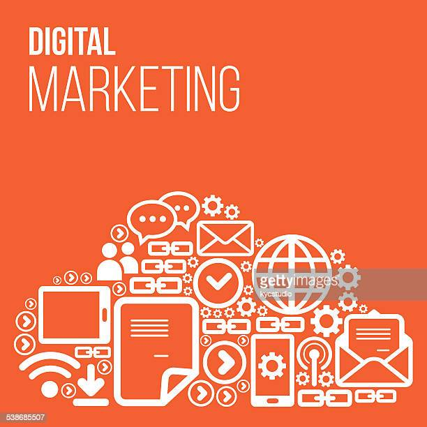 Digital Marketing Vector with icons