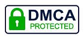 DMCA - Digital Millennium Copyright Act - stock vector
