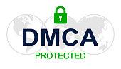 DMCA - Digital Millennium Copyright Act - vector
