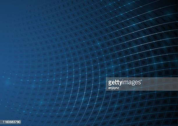 illustrazioni stock, clip art, cartoni animati e icone di tendenza di sfondo rete digitale - fibra