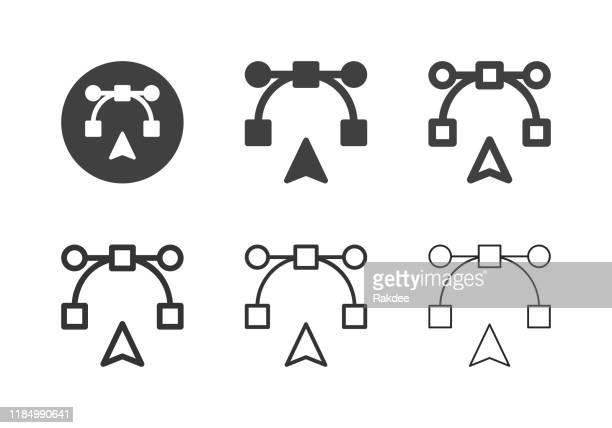 digital pen tool icons - multi series - newsletter stock illustrations