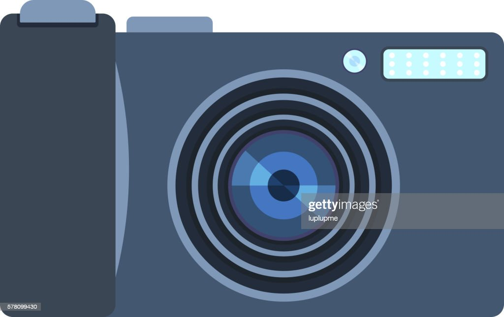 Digital photo camera isolated