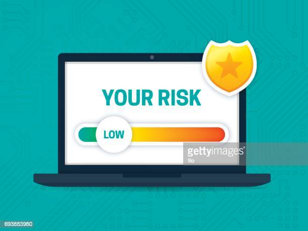 digital security and risk assessment - scrutiny stock illustrations