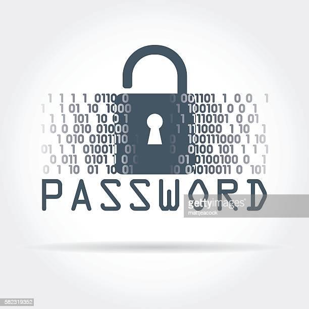 digital security - password stock illustrations