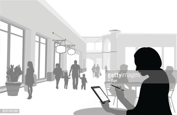 Digital Shopping In The Mall