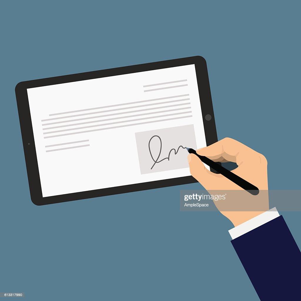Digital signature tablet