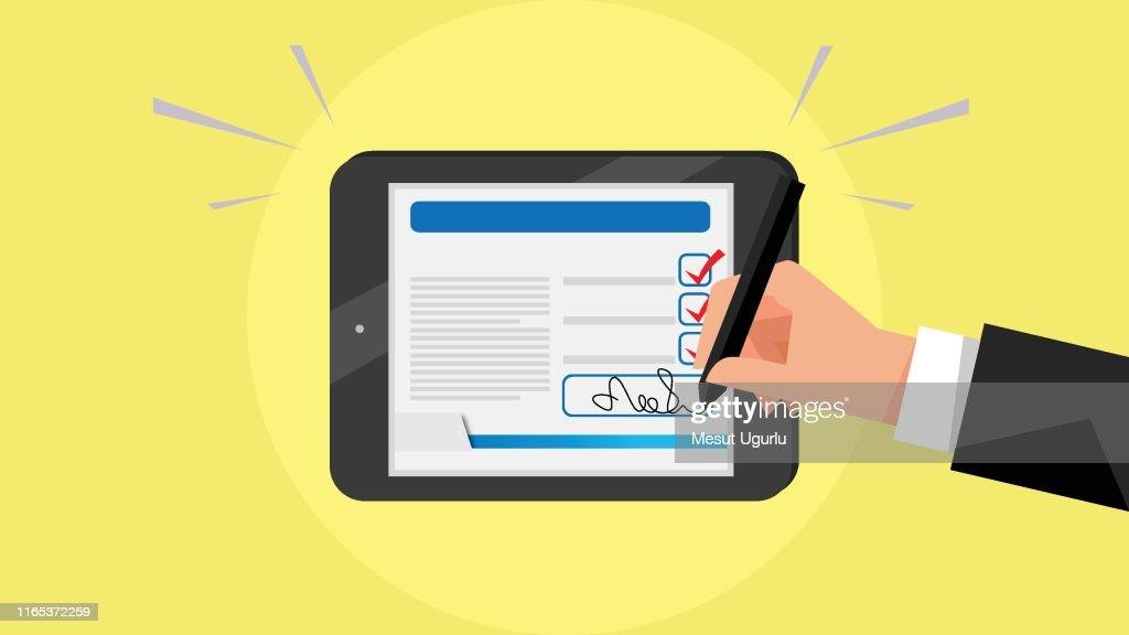 Digital signature : Stock Illustration