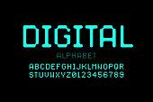 Digital style font
