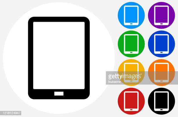 ilustraciones, imágenes clip art, dibujos animados e iconos de stock de icono de la tableta digital - tableta gráfica
