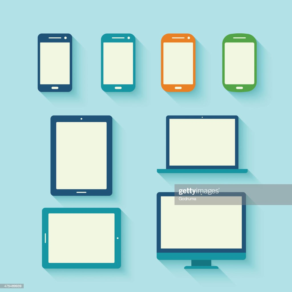 Digital tablets with long shadow