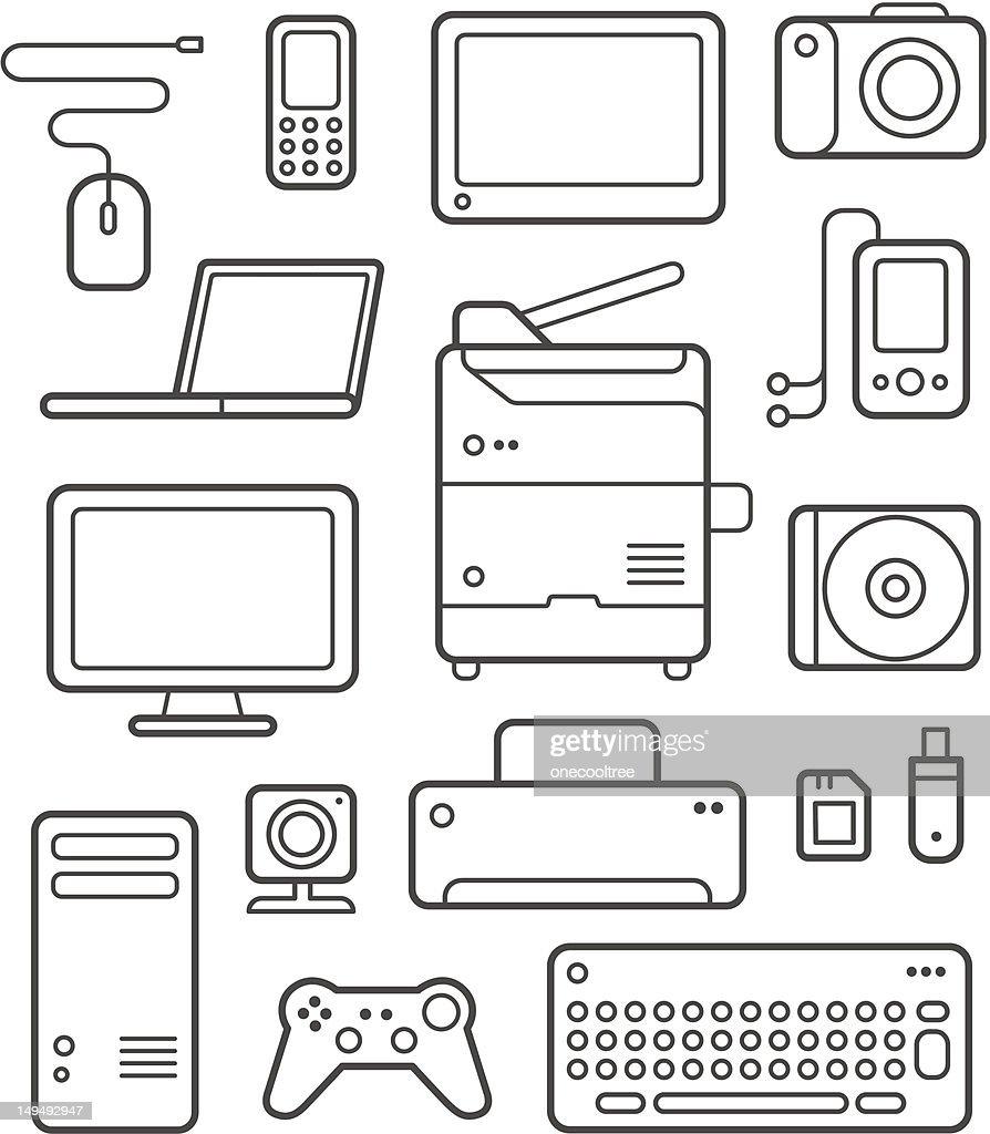 Digital Technics Icons Set