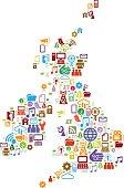 Digital UK map in colour