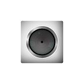Digital webcam. Gray square.