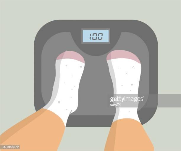 digital weight - body conscious stock illustrations, clip art, cartoons, & icons