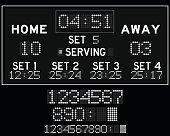 Digital white led volleyball scoreboard
