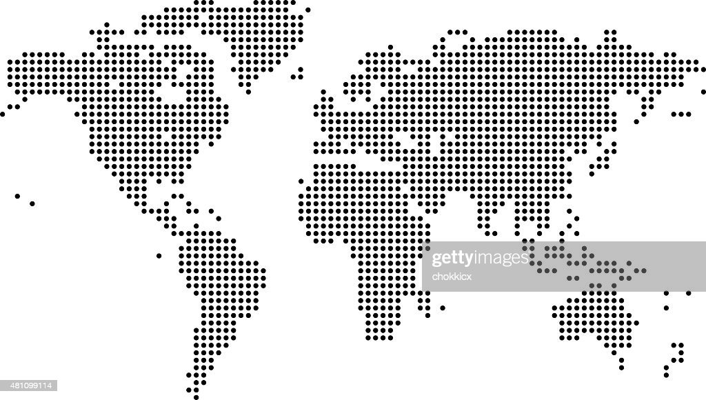 Digital world map vector art getty images digital world map vector art gumiabroncs Images