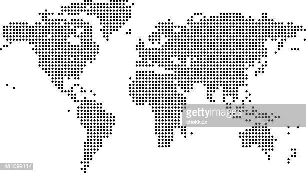 World map dots vector art and graphics getty images digital world map gumiabroncs Choice Image