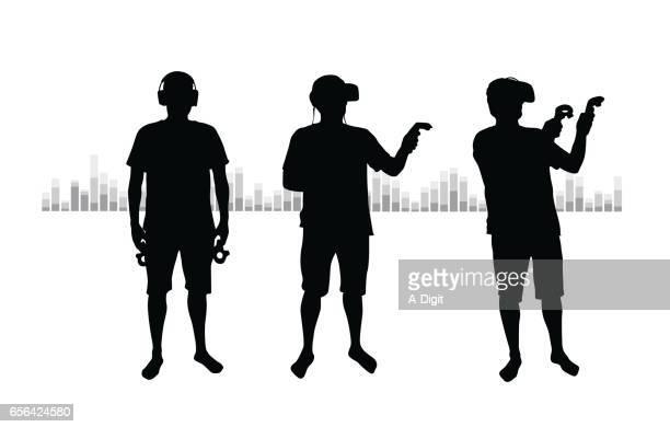 ilustrações, clipart, desenhos animados e ícones de mundo digital vr - realidade virtual