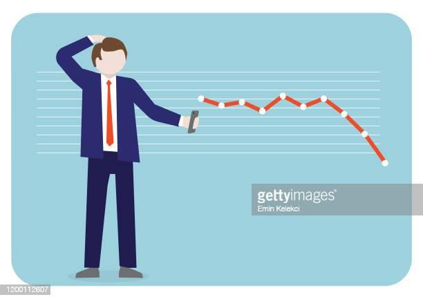 ilustraciones, imágenes clip art, dibujos animados e iconos de stock de disminución de las ganancias - impuestosobrelarenta