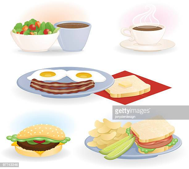diner selections - toast bread stock illustrations, clip art, cartoons, & icons