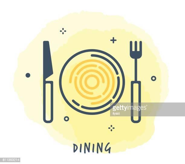 Dining Line Icon