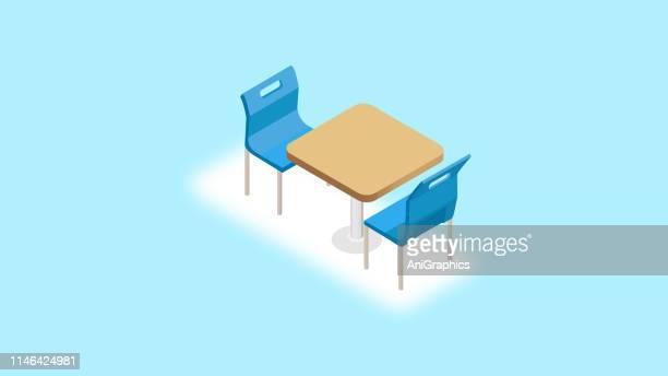 ilustraciones, imágenes clip art, dibujos animados e iconos de stock de icono de mesa de comedor - mesa de comedor