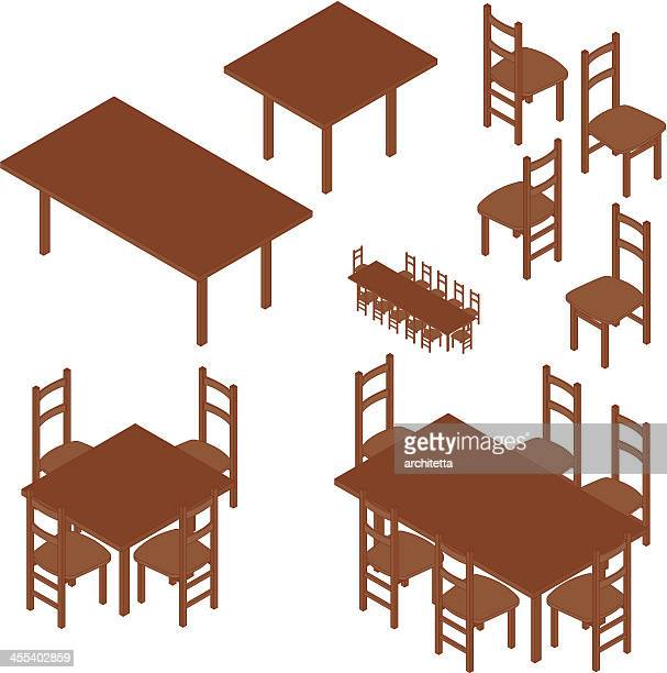 dining table isometric view