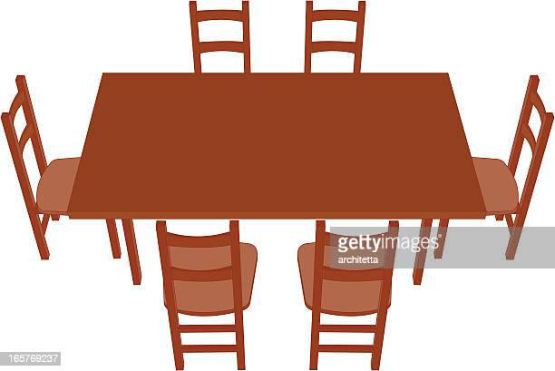ilustraciones, imágenes clip art, dibujos animados e iconos de stock de perspectiva mesa de comedor, - mesa de comedor